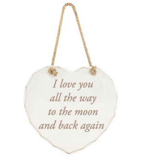 MOON & BACK HANGING PLAQUE